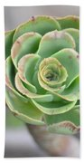 Green Petals Beach Towel