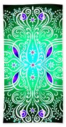 Green Piece Mandala Beach Towel