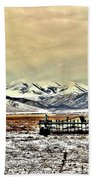 Green Plow On An Early Winter Morning Beach Towel