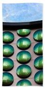 Green Polka-dot Curve Beach Towel