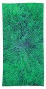 Green Radation With Violet  Beach Towel
