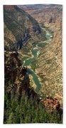 Green River Carving Canyon Beach Towel