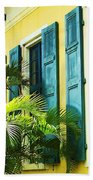 Green Shutters Beach Towel