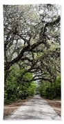 Green Swamp Oak Bower Beach Towel