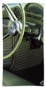 Green Thunderbird Wheel And Front Seat Beach Towel