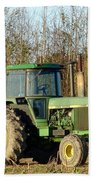 Green Tractor Beach Sheet