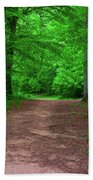Green Trail Beach Towel