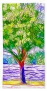 Green Trees By The Water  5 Beach Towel