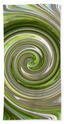Green Twirl Beach Towel