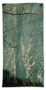 Green Wall Abstract Beach Towel