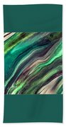 Green Waves Beach Towel