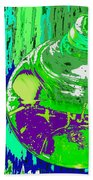 Green Whirl Beach Towel