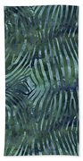 Green Zebra Print Beach Towel