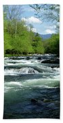 Greenbrier River Scene Beach Towel