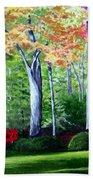 Greenfield Lake Garden Beach Towel