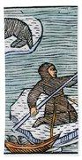 Greenland Eskimos, 1555 Beach Towel