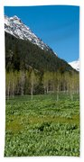 Greens And Blues Of The Maroon Bells Beach Towel