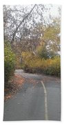 Greenway Trail In The Fall Beach Towel