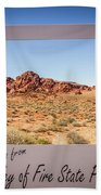 Greetings From Valley Of Fire Beach Towel