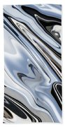 Grey And Black Metal Marbling Effect Abstract Beach Towel