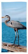 Grey Heron Beach Towel