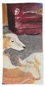 Greyhound And Spaniel Beach Towel
