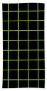 Grid Boxes In Black 09-p0171 Beach Towel