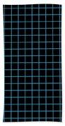 Grid Boxes In Black 18-p0171 Beach Towel