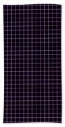 Grid Boxes In Black 30-p0171 Beach Towel