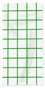 Grid Boxes In White 09-p0171 Beach Towel