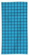 Grid In Black 18-p0171 Beach Towel