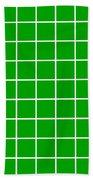 Grid In White 09-p0171 Beach Towel