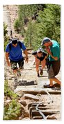 Grinding It Out On The Manitou Incline And Barr Trail Beach Towel