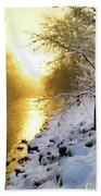 Grings Mill Fog 90-010 Beach Towel