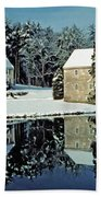 Grings Mill Snow 001 Beach Towel