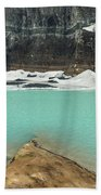 Grinnell And Salamander Glaciers Beach Towel by Jemmy Archer