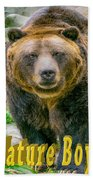 Grizzly Bear Nature Boy    Beach Towel