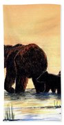 Grizzly Bears Beach Towel