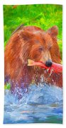 Grizzly Delights Beach Towel