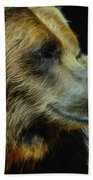 Grizzly Profile Beach Towel
