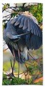 Grooming Blue Heron Beach Sheet