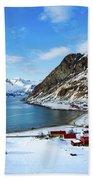 Grotfjord Norway Beach Towel