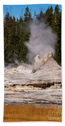Grotto Geyser Eruption Two Beach Towel