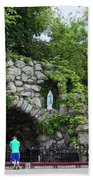 Grotto Of Our Lady Of Lourdes Beach Towel