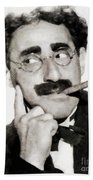 Groucho Marx, Vintage Comedy Actor Beach Towel