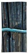 Copper Ground Wire On Utility Pole Beach Towel