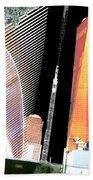 Ground  Zero Freedom Tower Formerly World Trade  Centre Wtc New York Photo Taken On July 4 2015 Usa  Beach Towel