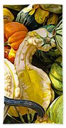 Group Of Gourds Expressionist Effect Beach Towel