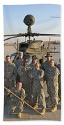 Group Photo Of U.s. Soldiers At Cob Beach Towel