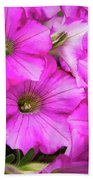Grouping Of Petunias Beach Towel